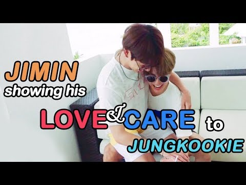 JIMIN SHOWING HIS LOVE AND CARE TO JUNGKOOKIE