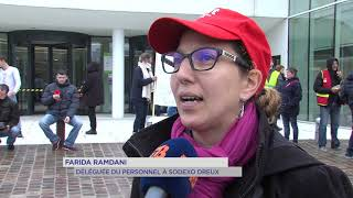Sodexo : mobilisation devant le siège de l'entreprise à Guyancourt