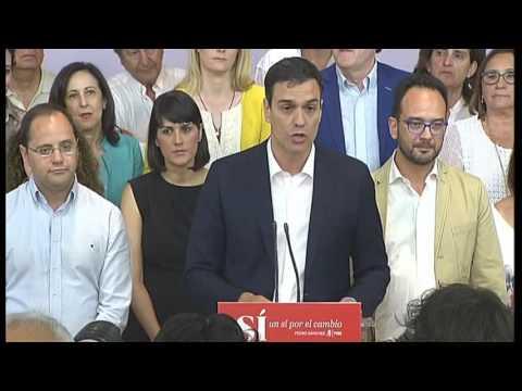 Declaraciones Pedro Sánchez tras las elecciones #26J