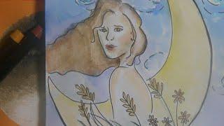 Quick Doodle- Selene Ophelia