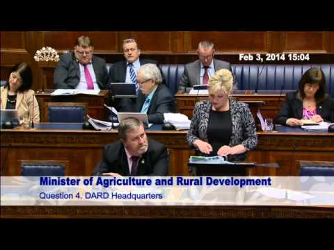 Agriculture and Rural Development Question Time Monday 3 February 2014