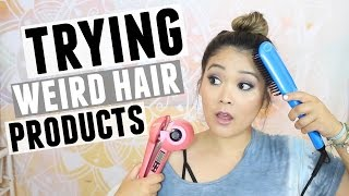 TRYING WEIRD HAIR PRODUCTS | JaaackJack