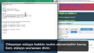 HTML5: Margin ja padding sivun ulkonäön muokkauksessa
