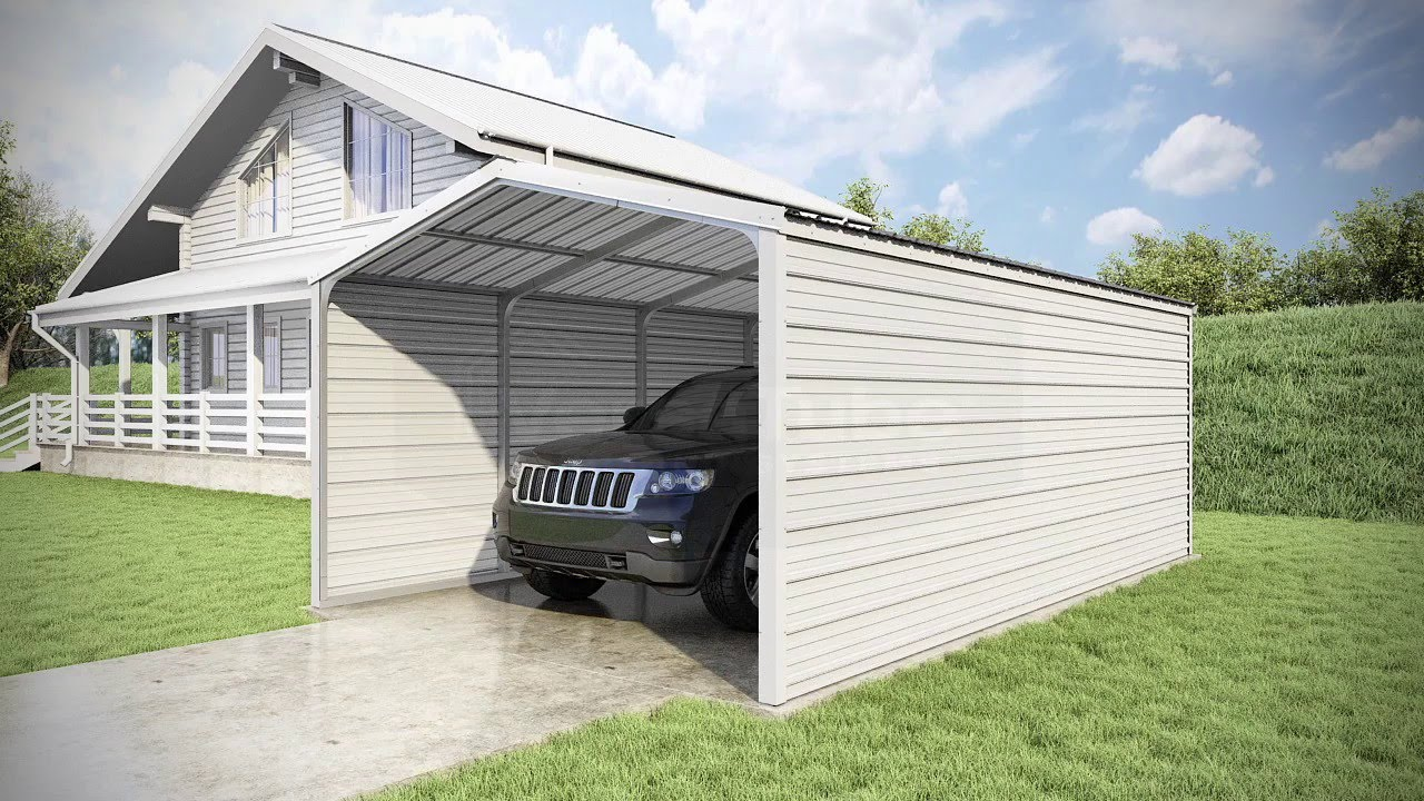 12 X 20 X 7 Grand Carport 3 Sided YouTube
