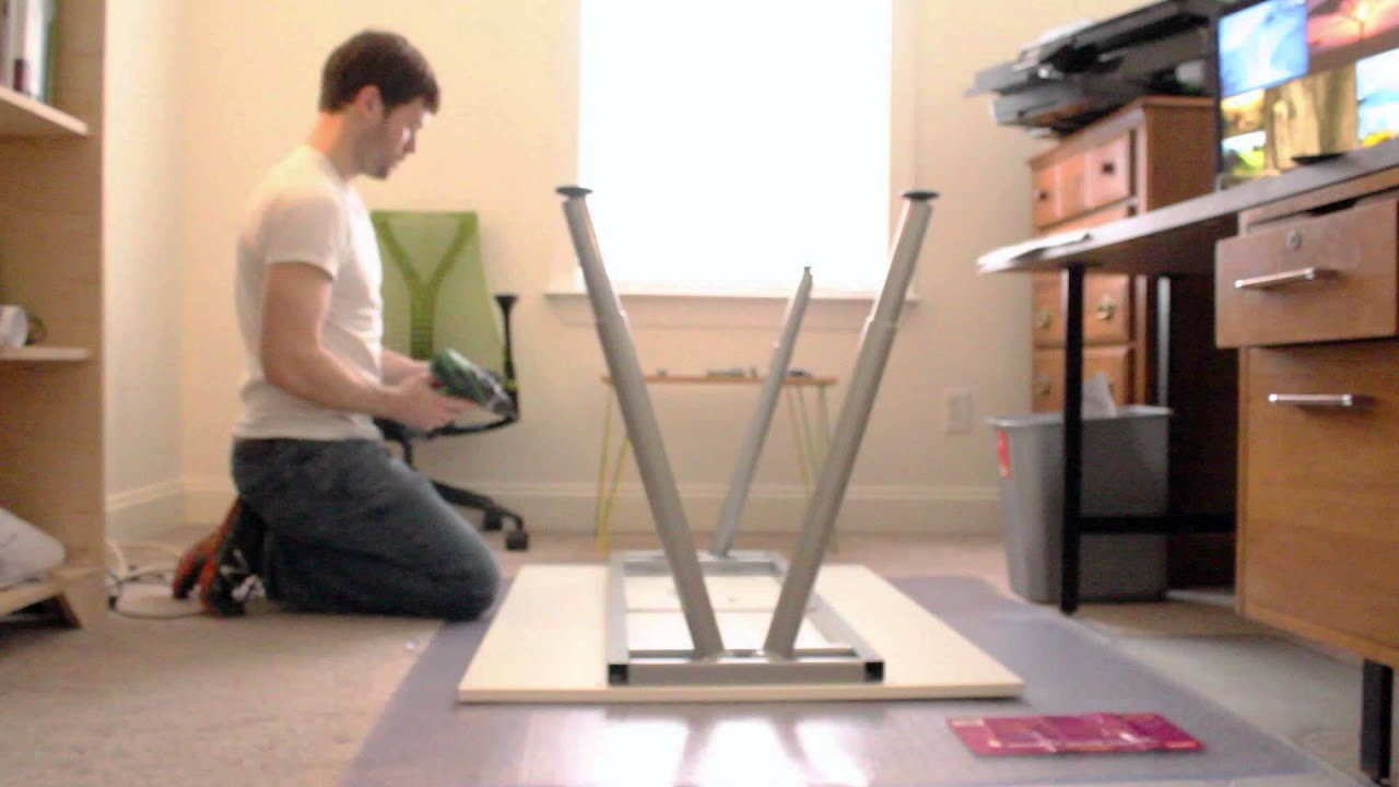 Ikea galant desk assembly youtube for Someone to assemble ikea furniture