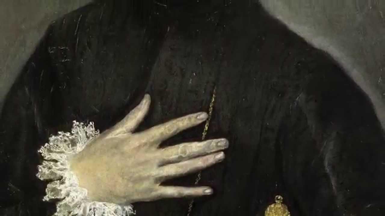 Cuadro del hombre con la mano en el pecho