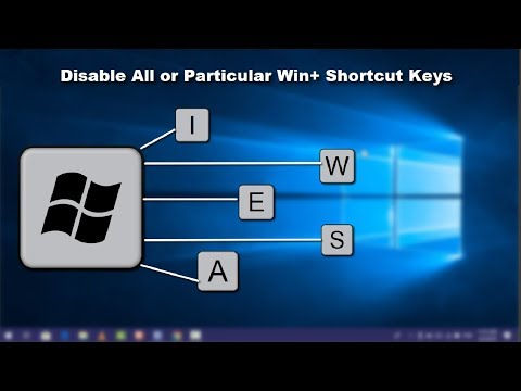 How To Disable Win Key + Shortcut Keys On Windows 10 PC 2019