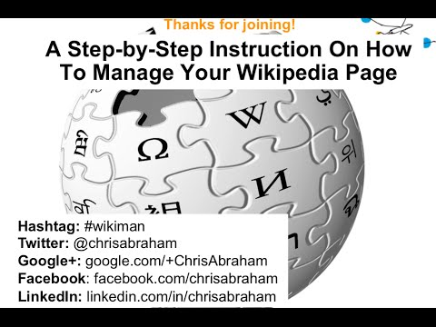 A Step by Step Instruction On How To Manage Your Wikipedia Page 2 6 15, 1 04 PM