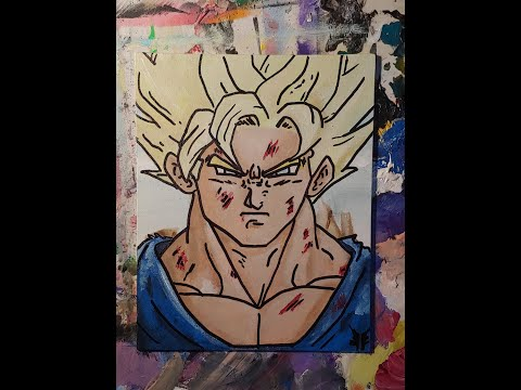 How to paint and draw Goku from DBZ~Learn Art |