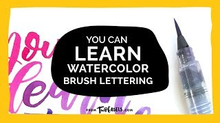 Video watercolor brush lettering download MP3, 3GP, MP4, WEBM, AVI, FLV Agustus 2018