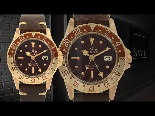 Rolex GMT Master Rootbeer Gold Nipple Dial Vintage Watch 1675 | SwissWatchExpo