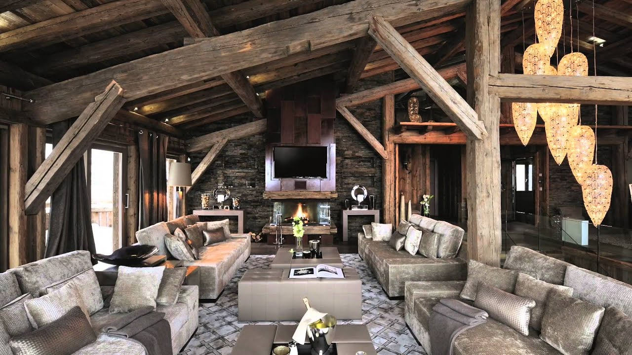 FOR SALE: Luxury ski chalet Ecrin Blanc in Megeve village, Rhone Alps,  South of France - YouTube