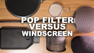 Pop Filter vs Windscreen, Which Should You Buy? (FAQ Series)