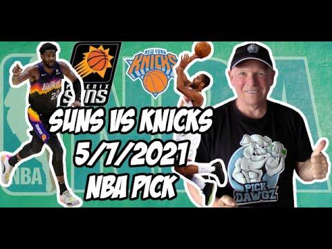 NBA Betting Pick: New York Knicks at Phoenix Suns 5/7/21 Free NBA Pick and Prediction