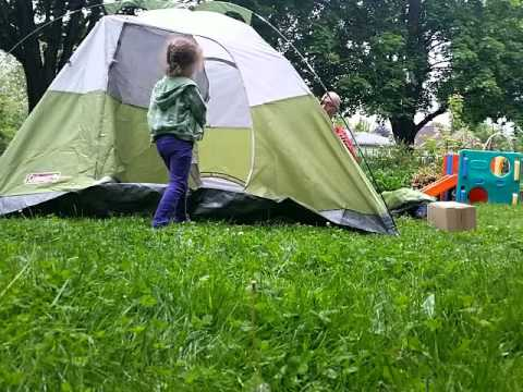 Tent setup Colman sundome 4 person & Tent setup Colman sundome 4 person - YouTube