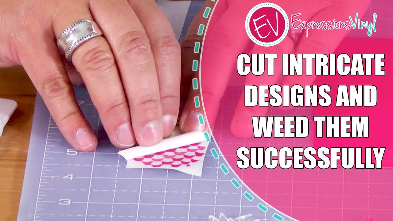 Cut Intricate Designs With Vinyl And Weed Them