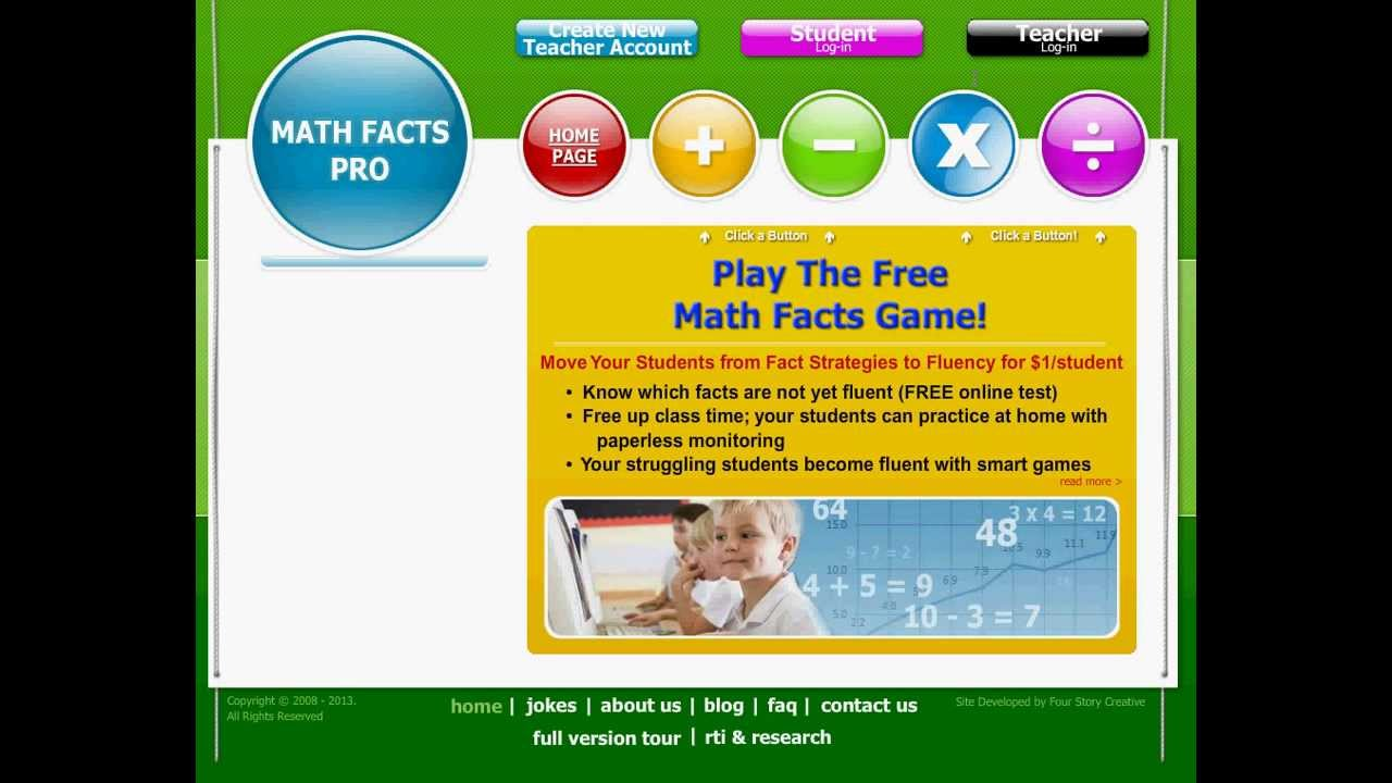 Math Facts Pro Demo - YouTube