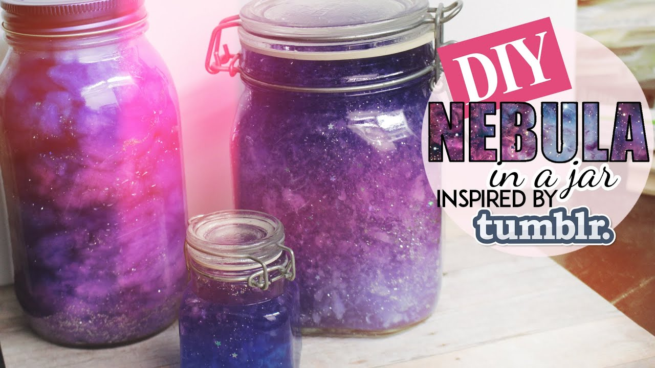 Diy Nebula In A Jar Tumblr Inspired Two Methods Youtube