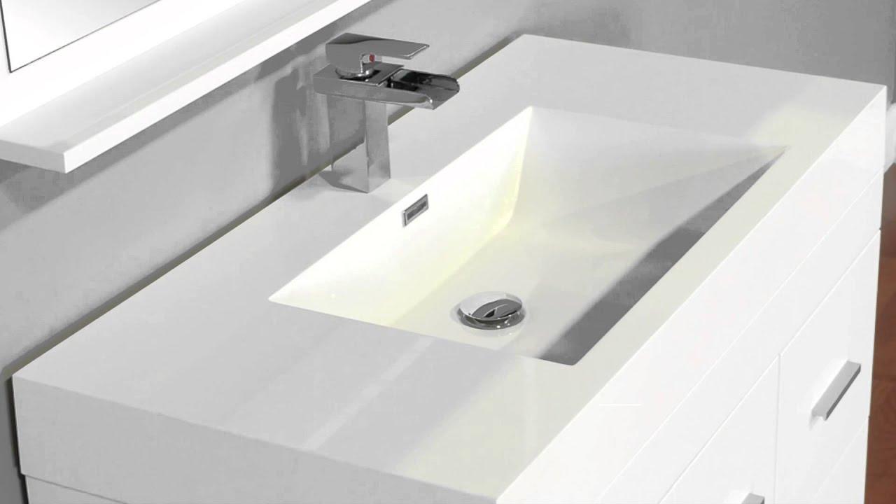 "Alya At 8041 Lo 39 Single Modern Bathroom Vanity: Alya Bath AT-8041-W 39"" Single Modern Bathroom Vanity"