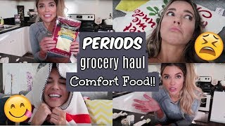 PERIODS, GROCERY HAUL, & COMFORT FOODS | THURS DAY IN THE LIFE