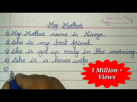 My Mother 10 Lines Short Essay Essay Writing In English Youtube