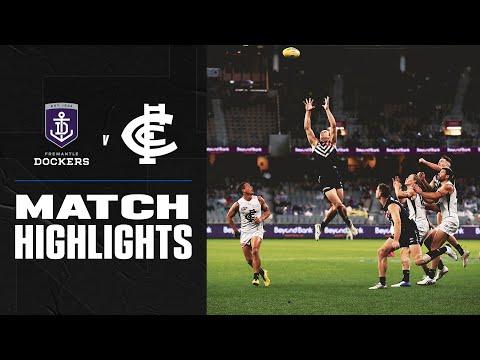 Newnes After The Siren   Fremantle V Carlton Highlights   Round 12, 2020   AFL