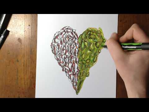 Colouring The Duel Heart Drawing