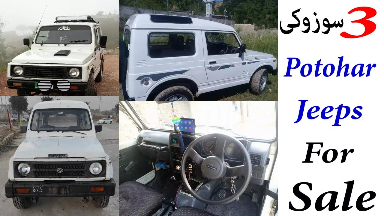 3 Suzuki Potohar Jeeps For Sale Cheap Price Jeeps Sales Info Youtube