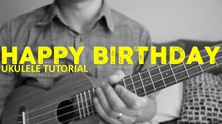 Happy Birthday Song (EASY Ukulele Tutorial) - Chords - How To Play