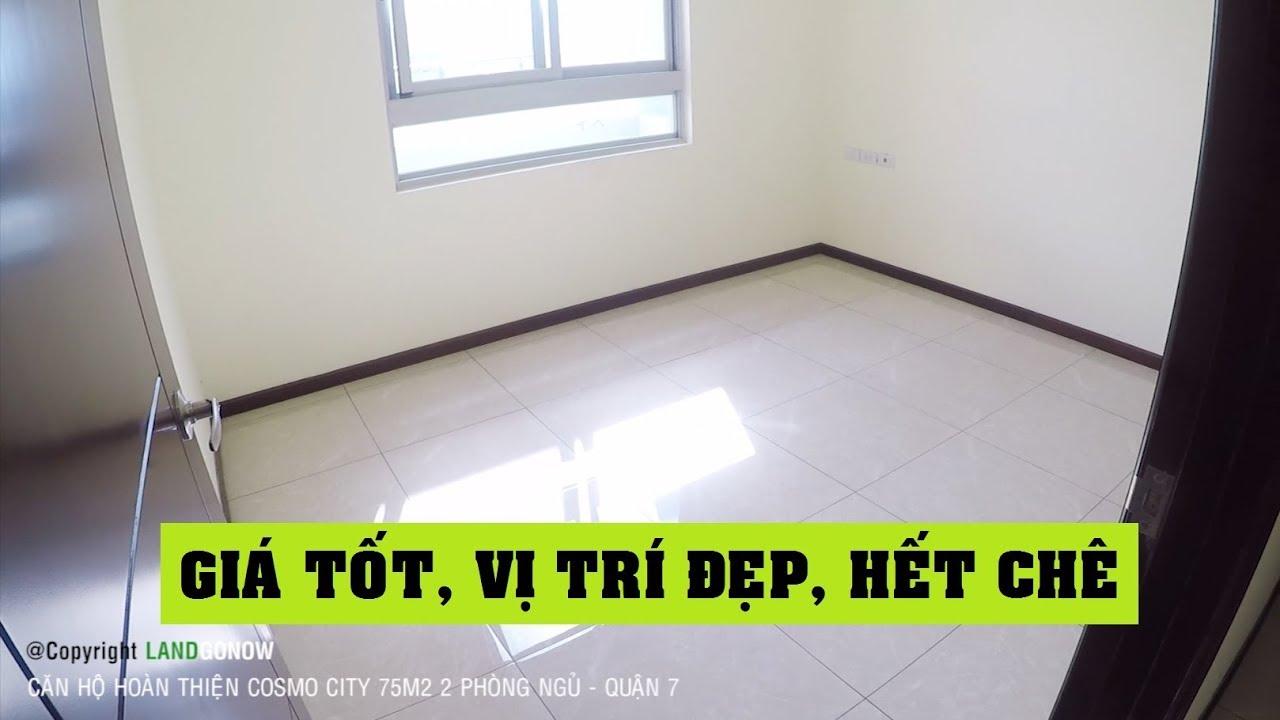 Căn hộ Cosmo City 74m2 2 phòng ngủ hoàn thiện, Quận 7 – Land Go Now ✔