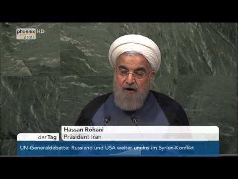 UN-Vollversammlung: Rede von Hassan Rohani vom 28.09.2015