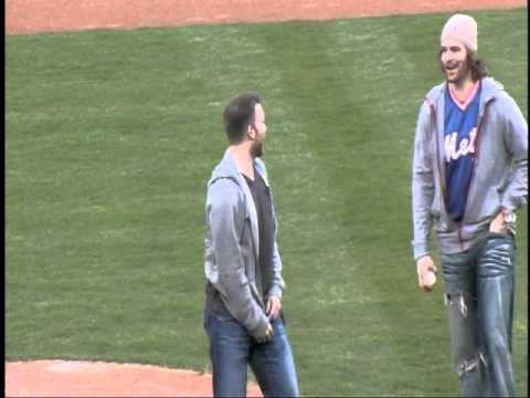Ryan Keller and Barry Brust - Honorary First Pitch at BMets Game