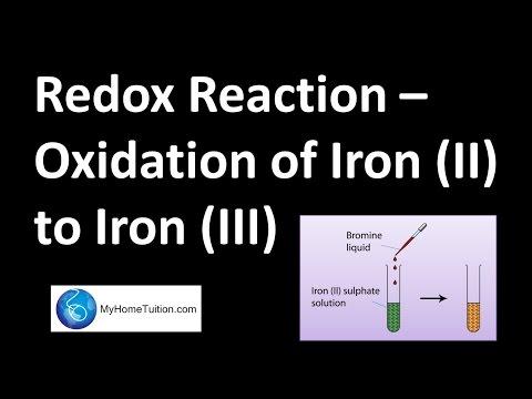 Redox Reaction - Oxidation of Iron (II) to Iron (III)