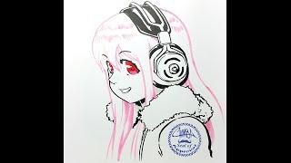Traditional Art recording - Super Sonico