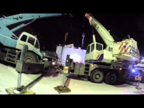 Перевозка и выгрузка трансформатора 49 тонн. Спецпартнер.рф