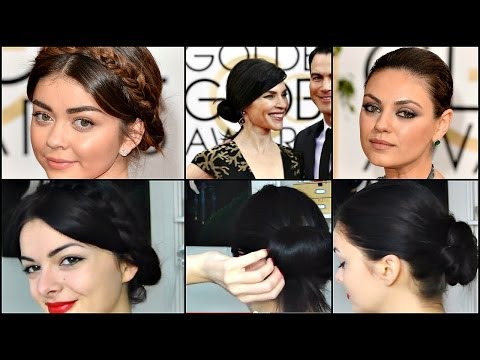 3 Golden Globes Hairstyles | Easy! thumbnail