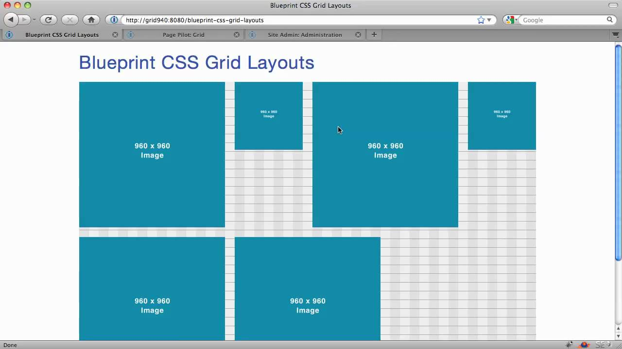 Blueprint css part 2 advanced layouts with grids youtube malvernweather Image collections