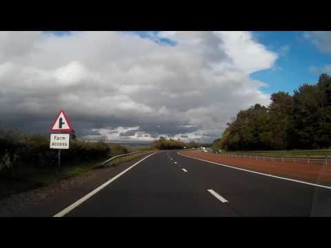Drive From Doune To Perth Perthshire Scotland
