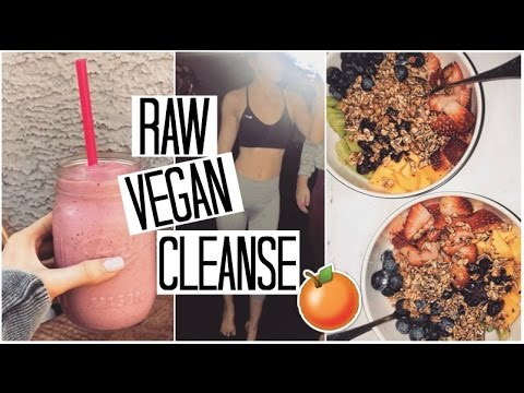 How to Cleanse & Detox your Body with a RAW VEGAN Diet | What I Eat in a Day #3