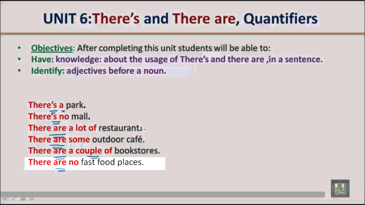 there is there are grammar pdf