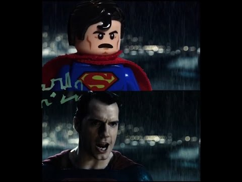 Batman v Superman: Dawn Of Justice LEGO Trailer 2 Side by Side w/original