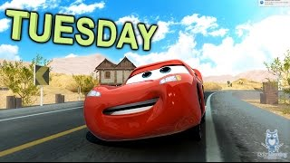 Learn the Days of the Week with Lightning McQueen from CARS