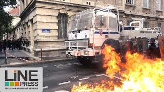 Manifestation Loi Travail. Affrontements / Paris - France 12 septembre 2017