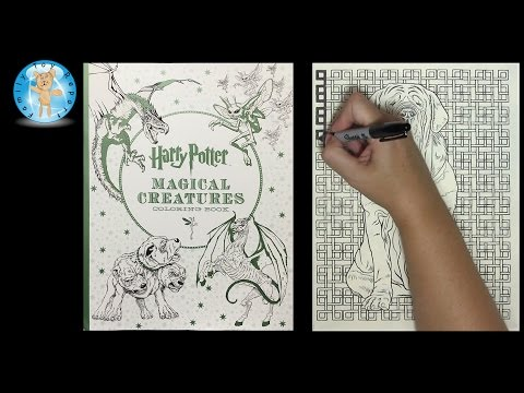harry-potter-magical-creatures-adult-coloring-book-dog-speed-color---family-toy-report