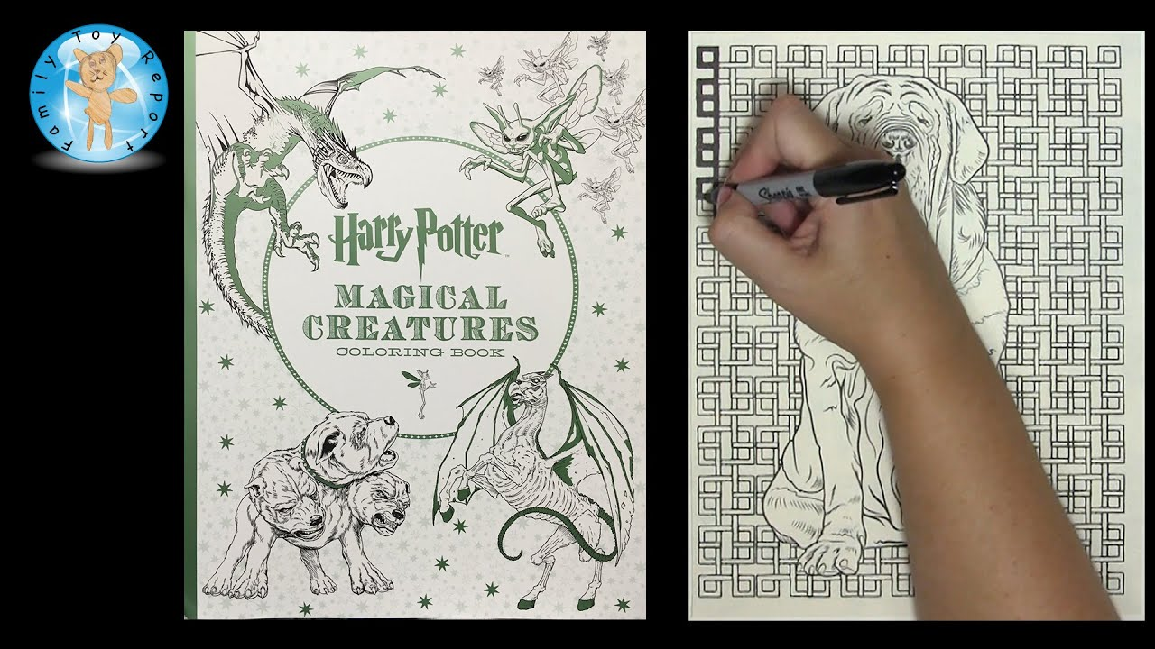 Harry Potter Magical Creatures Adult Coloring Book Dog Speed Color