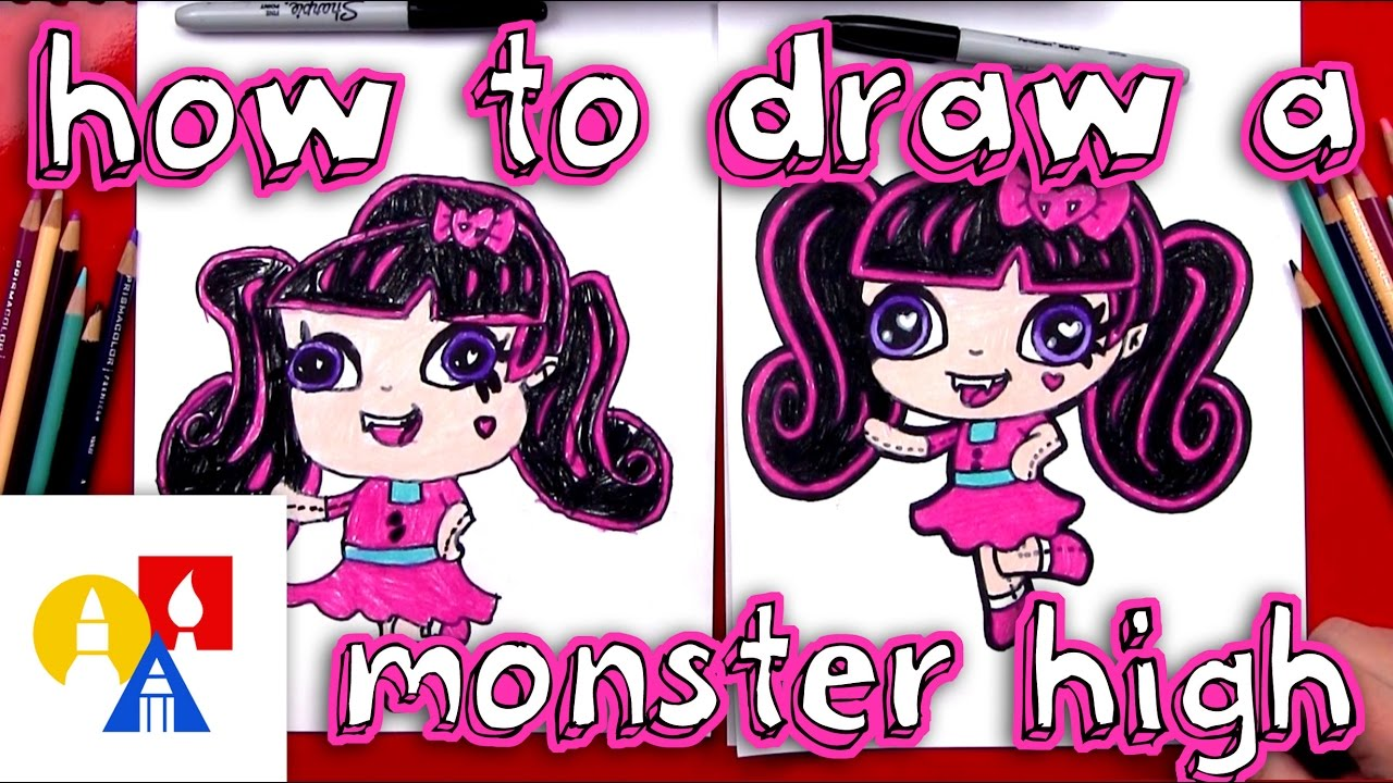 How To Draw Draculaura Monster High Mini Youtube