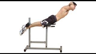 Гиперэкстензия. Разгибание туловища. Упражнение для мышц спины. Обучающее видео.(Фитнес программа тренировок для мужчин «Фитнес Мен»: http://www.athleticblog.ru/?page_id=605 Гиперэкстензия (разгибание..., 2011-10-02T12:48:48.000Z)
