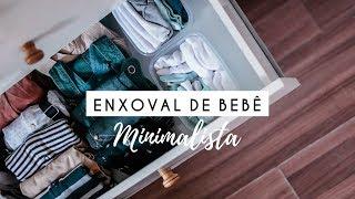 ENXOVAL DE BEBÊ MINIMALISTA - organização da cômoda e o essencial p/ início