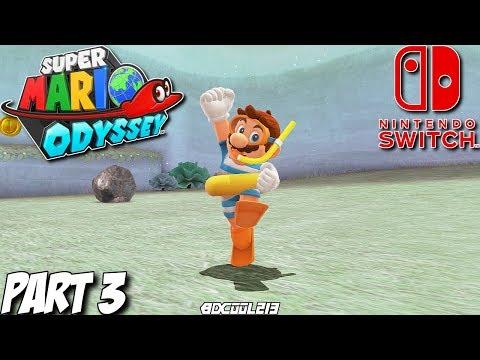Super Mario Odyssey Gameplay Walkthrough Part 3 - Lake Kingdom - Nintendo Switch Lets Play