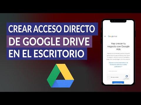 Cómo Crear Acceso Directo de Google Drive en el Escritorio de mi PC